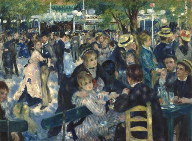 Le Bal du Moulin de la Galette d'Auguste Renoir